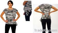 Zebra Striped Sheer Top