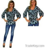 Glided Leopard Print Blouse