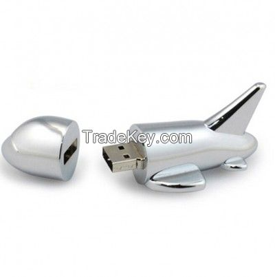 Stainless Steel Plane USB Jump Flash Drive Disk 1GB-64GB