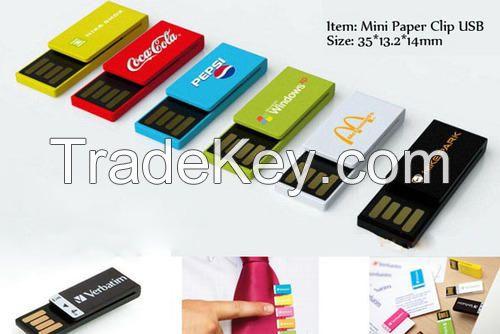 Clip USB Flash Drive 1GB ,2GB, 4GB, 8GB