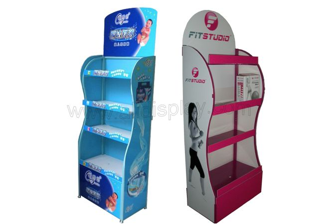 Retail floor standing displays for articles of everyday use