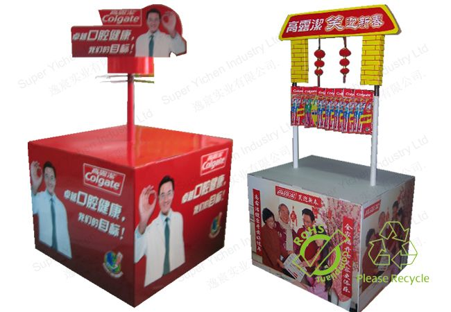 Economical hot-sale cardboard floor pallet display for advertising
