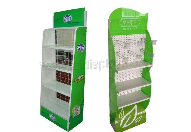 Metal display rack for retail store