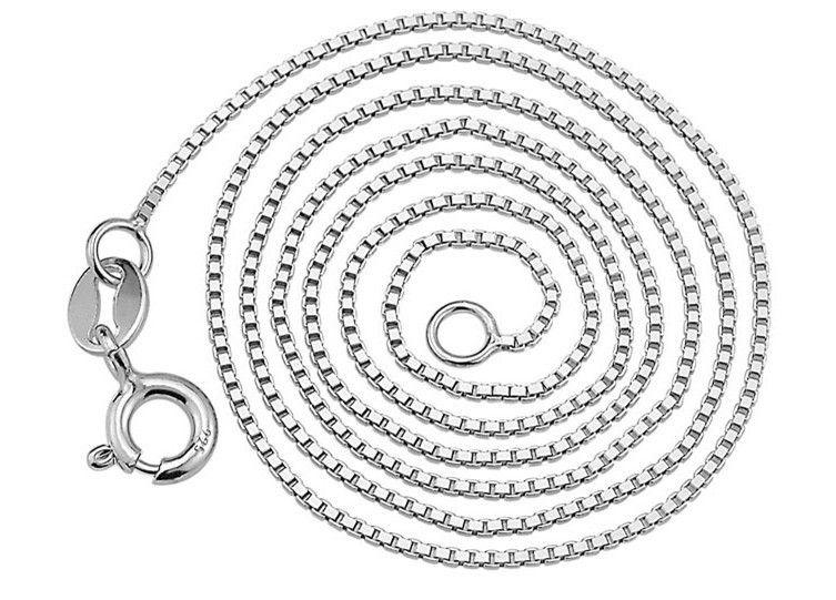 silver necklace,silver chain