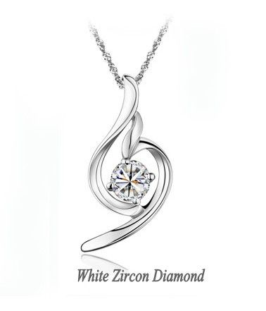 silver necklace and pendants