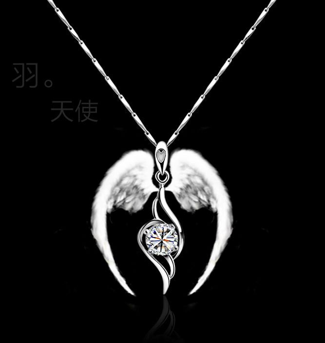 fashion necklace  pendants with silver