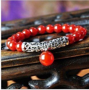 beaded bracelets natural agate gemstone jewelry