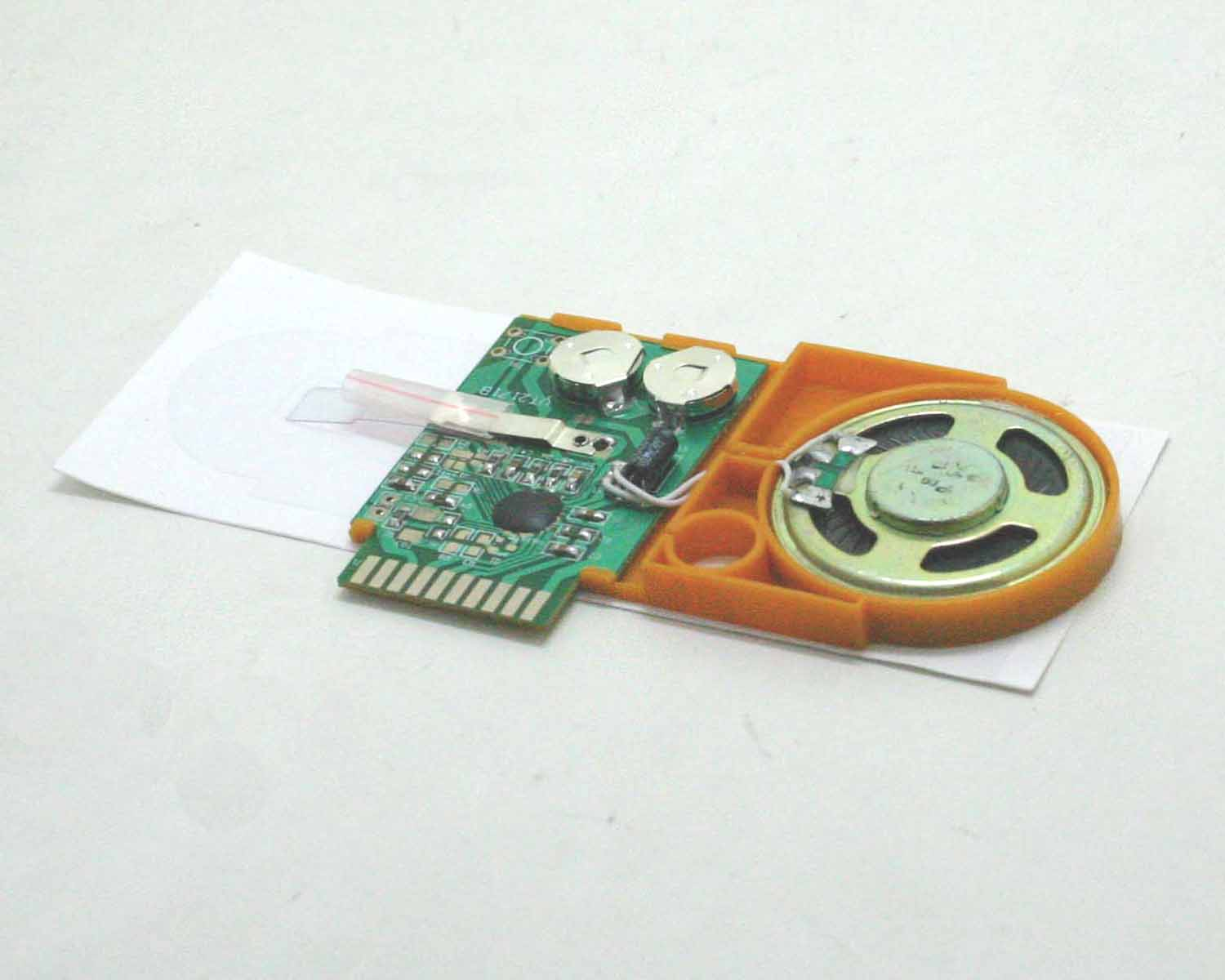 Recordable, OTP greeting card module, promotional sound card module