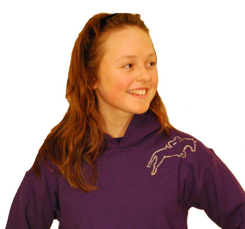 Girls Hoody - GG Bling Designer Horse and Pony Wear