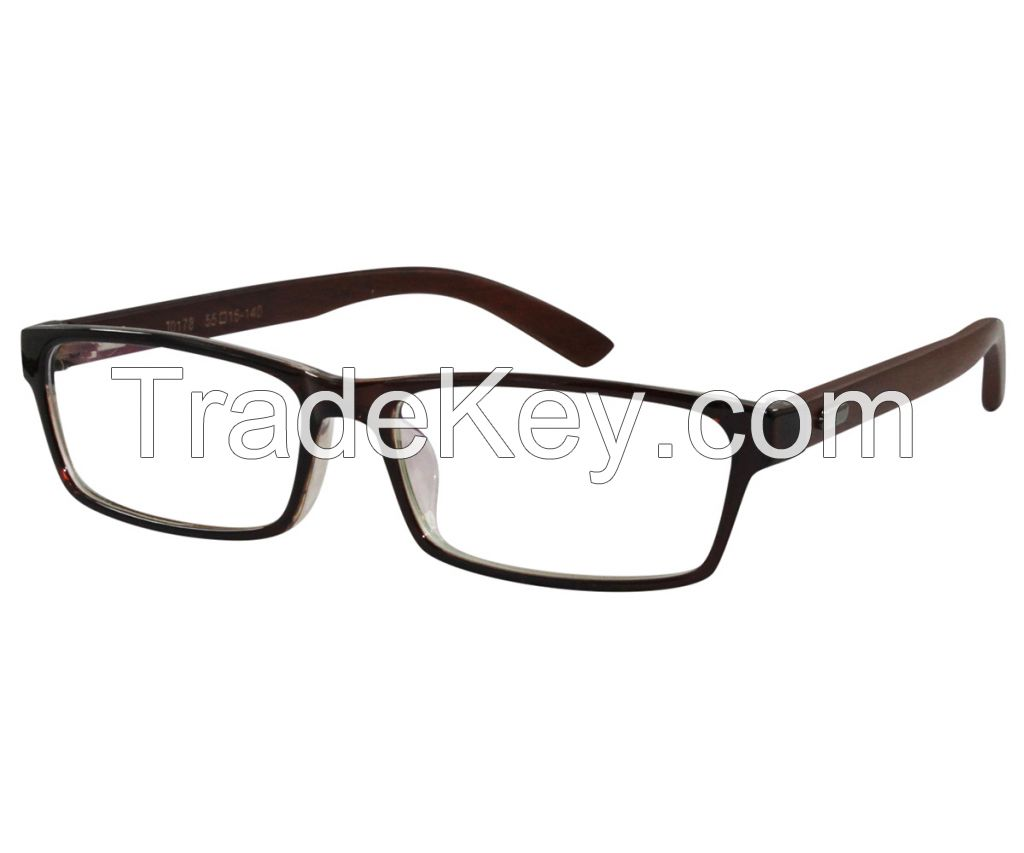 Optical Frames with Wood Temple TR-90