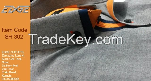 Shirts With Emblished Collars and Cuffs