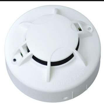 AC220V Powered DC 9V Battery Backup Photoelectric Smoke Alarm