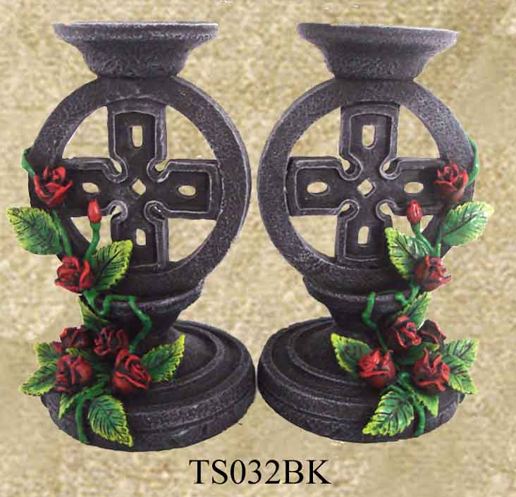 pair of celtic candle holders