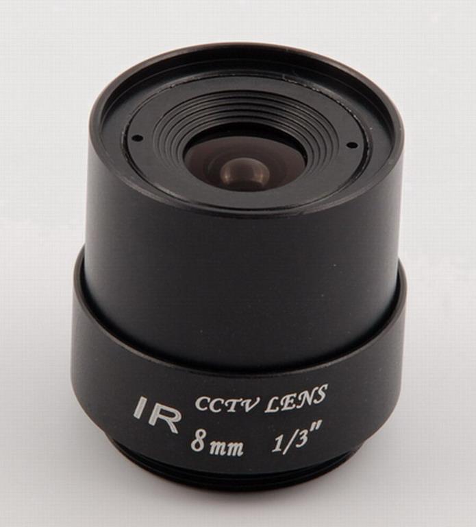 8mm cctv lens, plastic lens, steel lens
