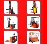 Stacker, Pallet Truck, Forklift, Scissor Lift, Work Platform etc