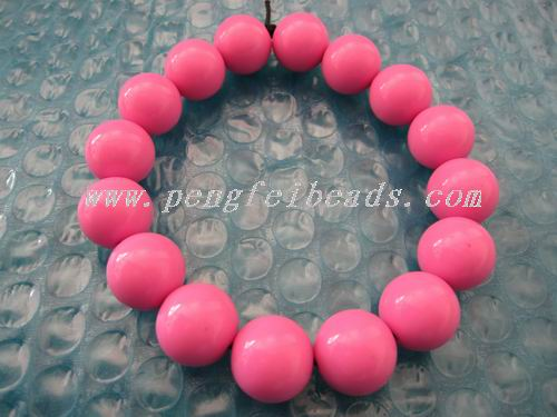 solid color acrylic beaded
