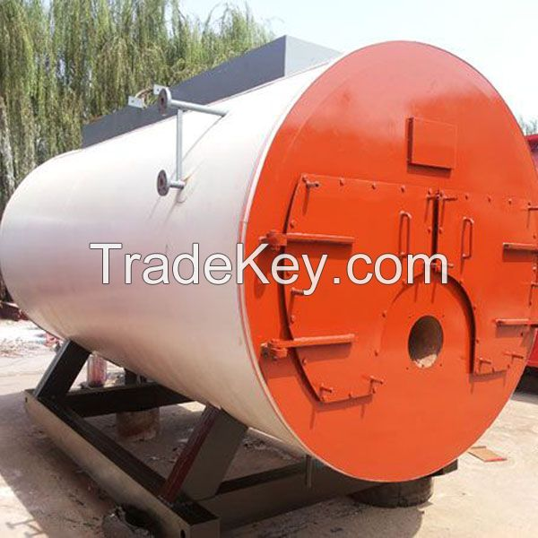 WNS Horizontal type fire tube auyomatically natual gas or diesel fired steam boiler