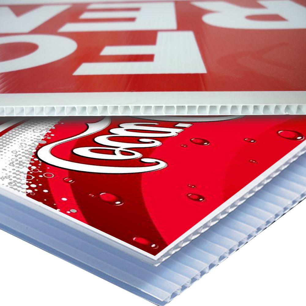 supply screen printed UV Flatable printed and Screen printed coroplast board print