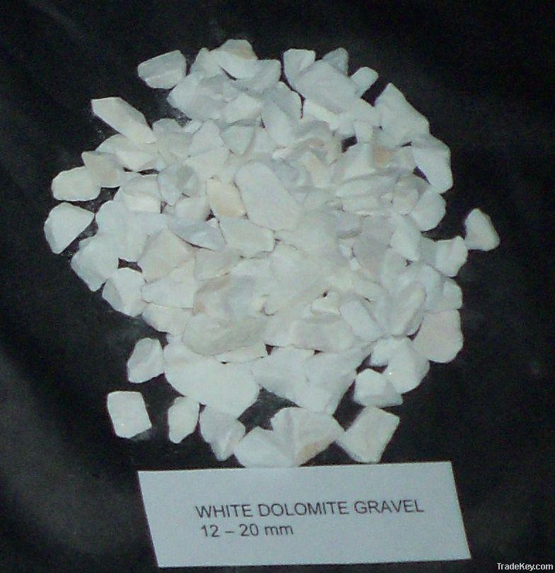 marble chips, white dolomite gravel