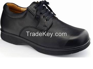 Wide Geniune Leather Diabetic Shoes