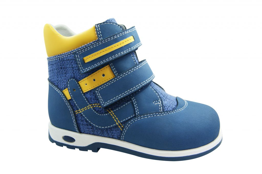 Kids Leather Orthopedic Shoes Children boots with Arch Support and thomas heel outsole