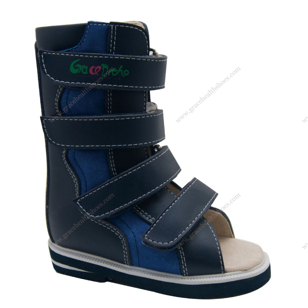 High open toe boots bulid in AFO Individual orthopedic boots for club feet 4910299