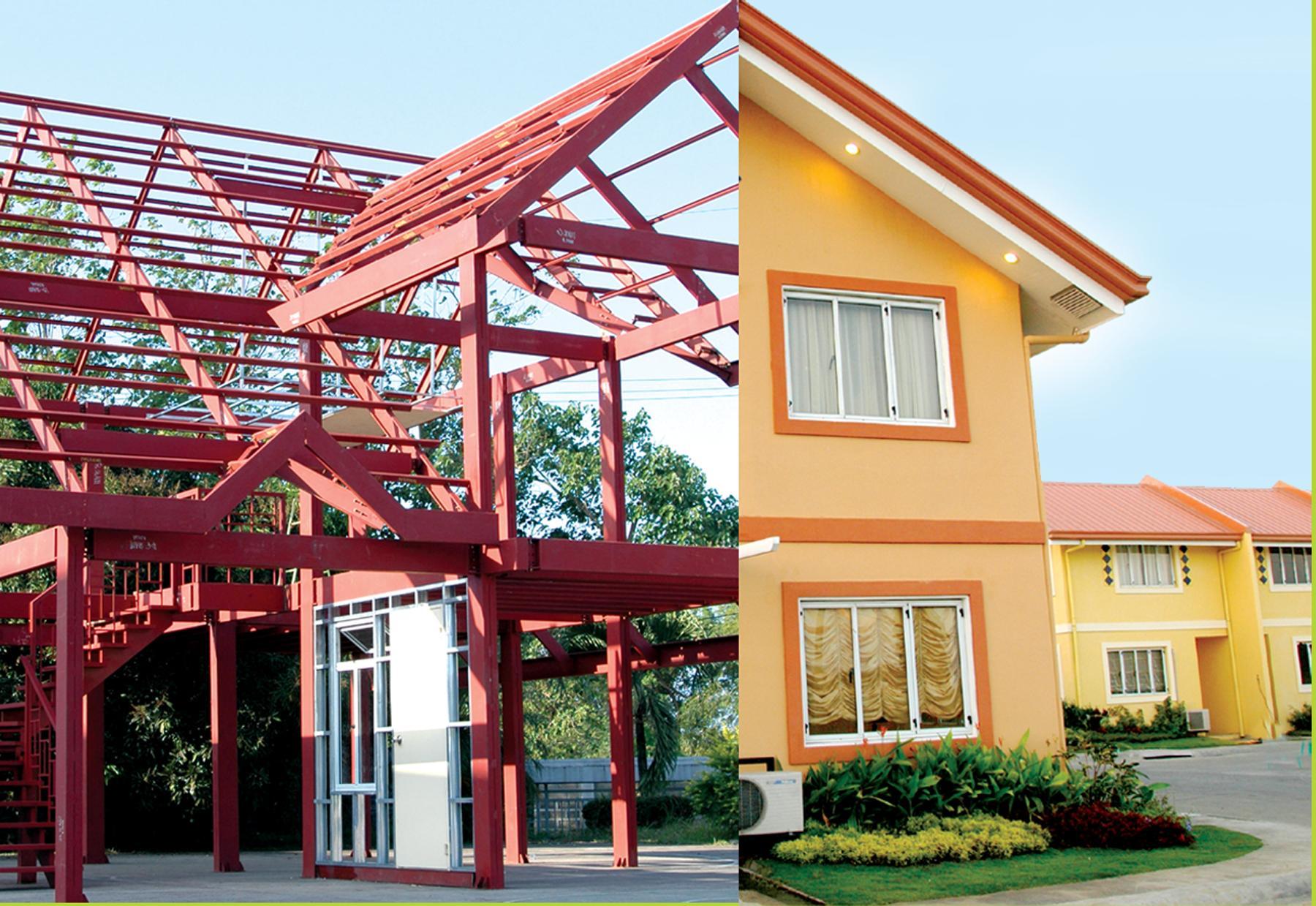 Steel House, Roof Framing, Floor Frame, Doors, Windows, Metal Frame