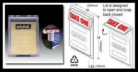 Real Estate Info Box, flyer boxes, outdoor brochure boxes
