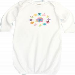Flower Ring Organic Baby Sleep Gown