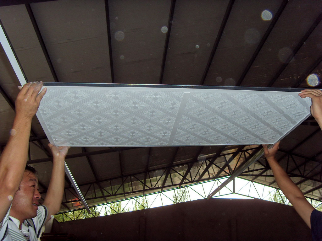 metal T-bar used for ceiling with PVC gypsum board