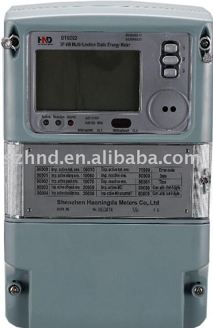 Three phase multi-function electronic energy meter