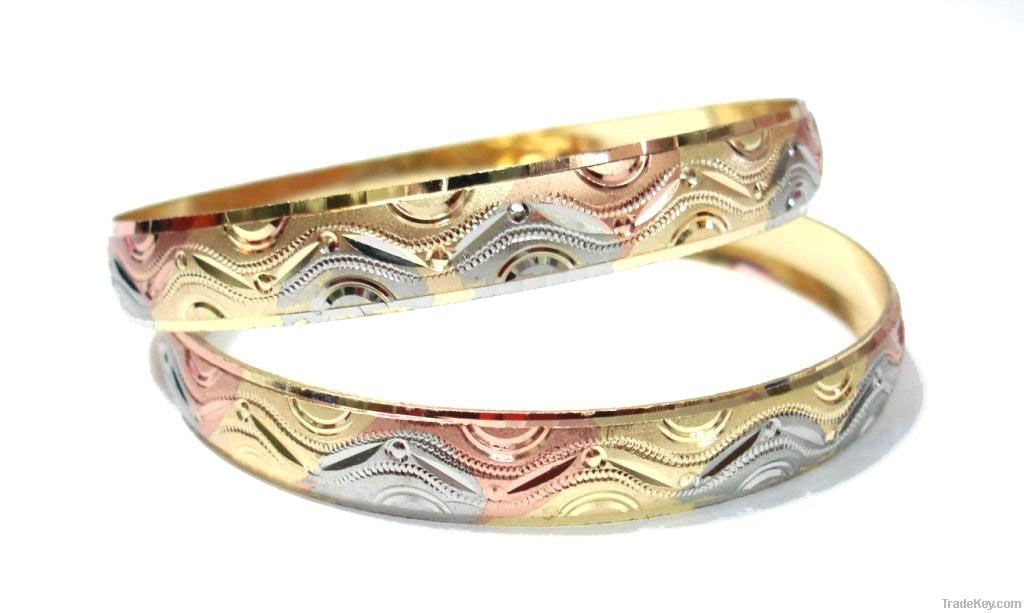 Diamond Cut Gold Plated Bangles