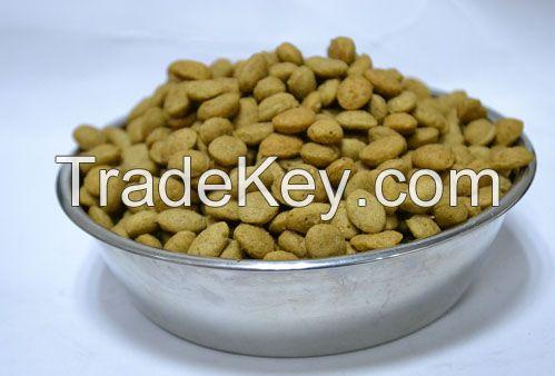 Dry pet dog food
