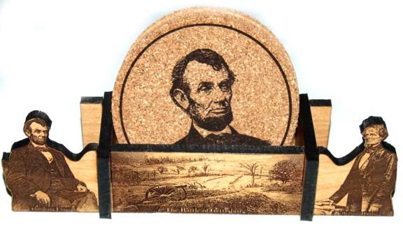 Civil War Coasters and Holders - Gettysburg