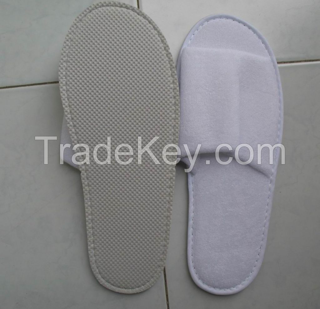 Open Toe Hotel Terry Towel Slipper
