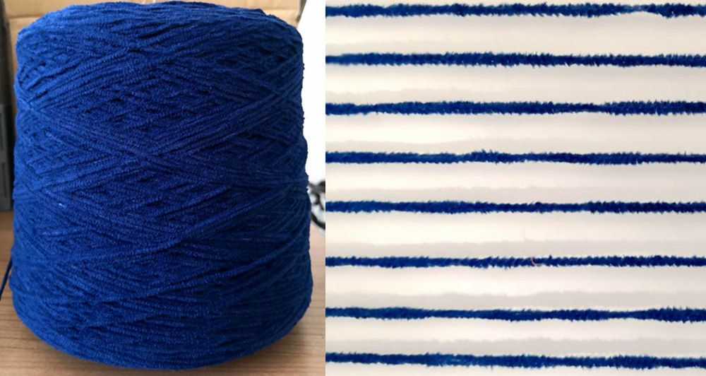 Fire retardant polyester chenille yarn