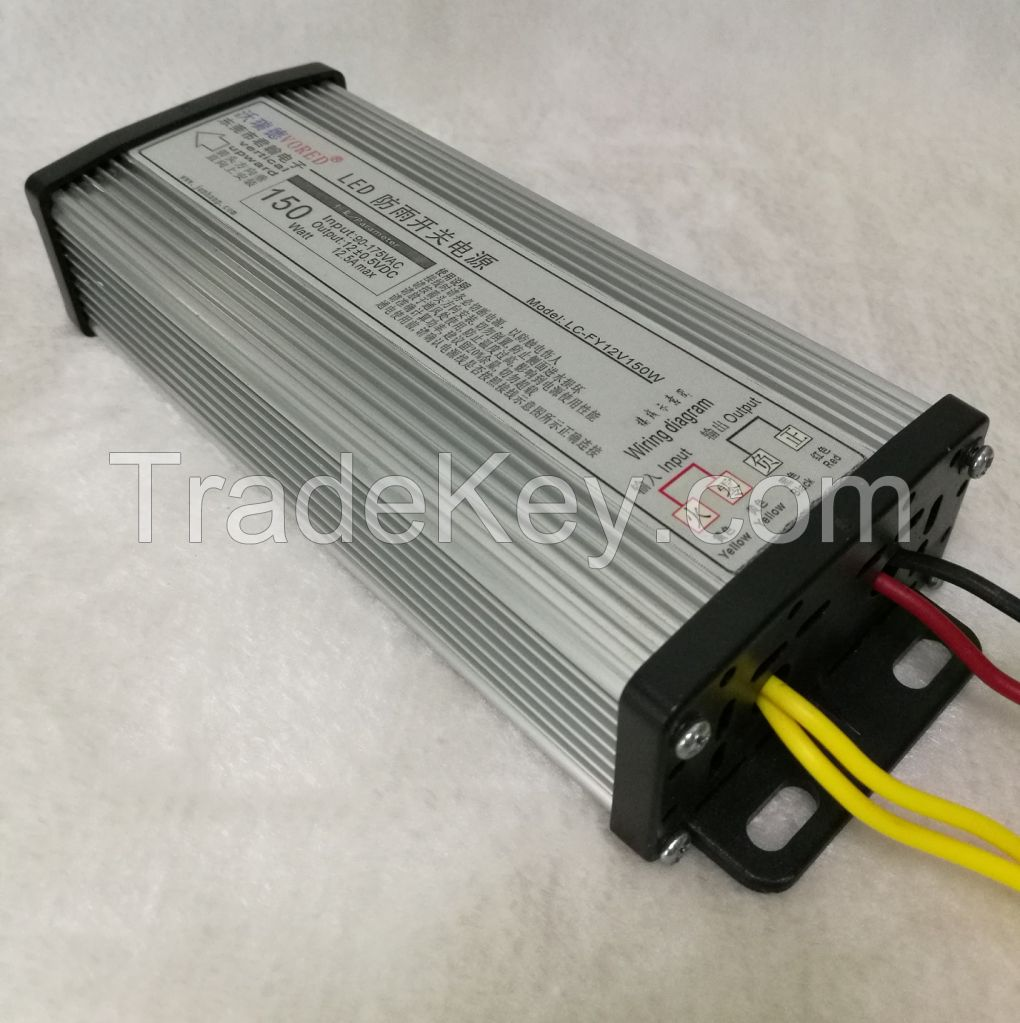 12V 60W /100W /150W / 200W/ 400W Switching Power Supply for LED Rain-Proof