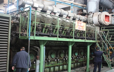 used Sulzer 16ZAV40S Heavy oil generator