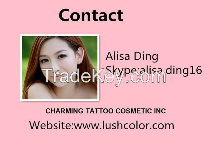 Professional Lushcolor tattoo ink for permannet makeup