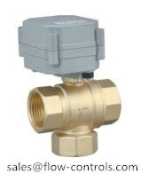 3 way brass motorized ball valve for automatic control system