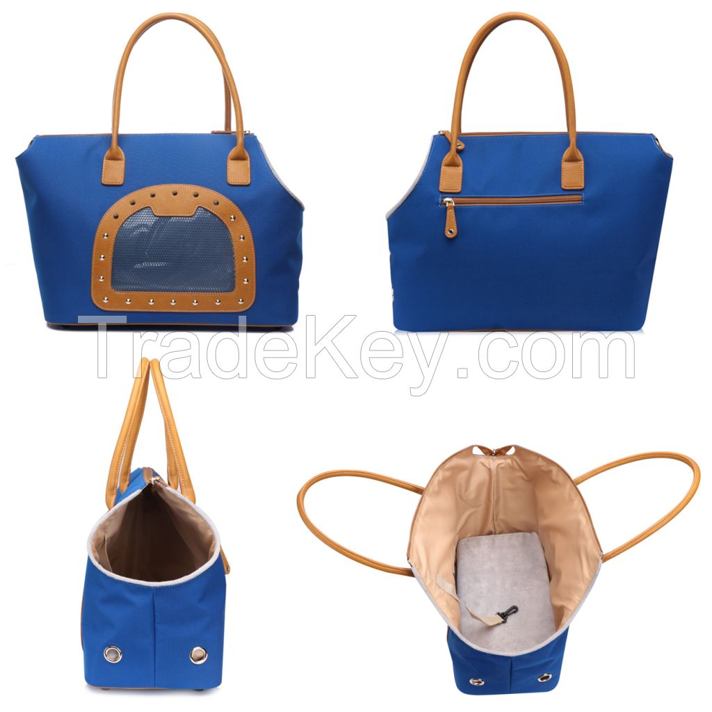 High quality Foldable pet carrier shoulder bag with plush pads