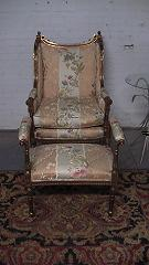 VICTORIAN CHAIR WITH OTTOMAN CIRCA 1900-1899