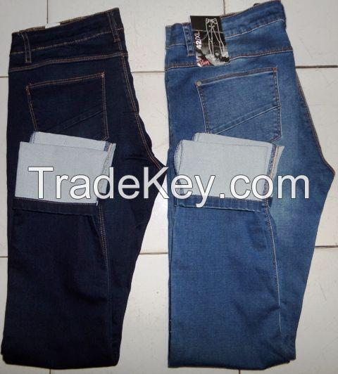 Ladies 98%cotton 2%spandex denim long pant
