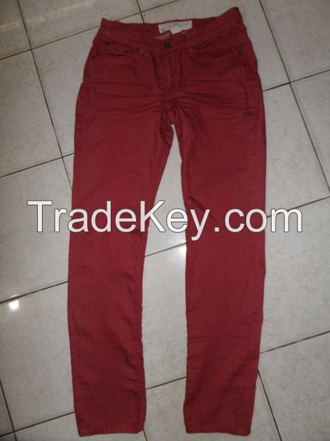 Ladies 98% cotton 2% spandex twill  pant