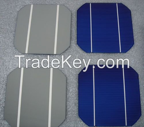 hot sale 16.80%-19.00% high efficiency cheap monocrystalline silicon solar cells 6x6