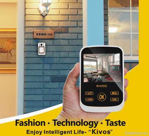 KDB02 3.5inch LCD intelligent infrared video doorbell