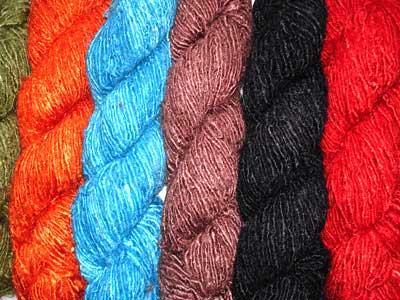 Recycled Silk Yarn