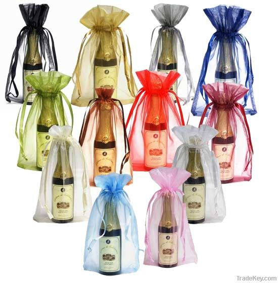 Colorful Plain Organza Promotion Gift Bag for Wedding Gift and Decorat