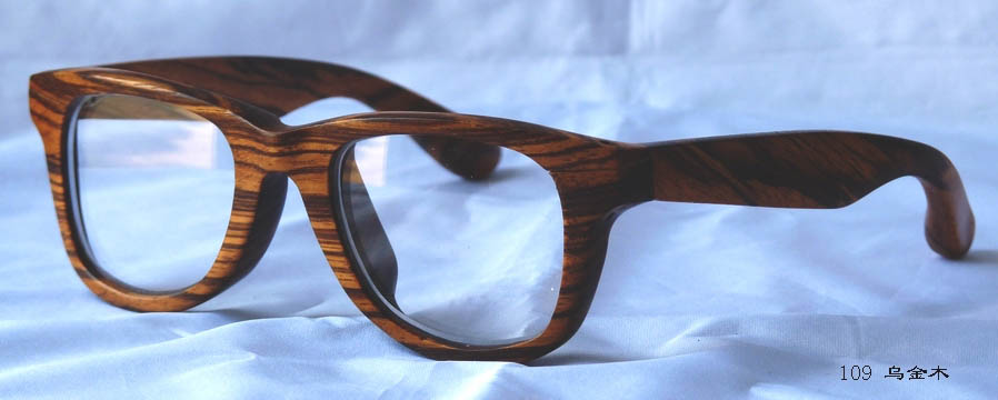 Wooden optical frames, hand made with precious wood material