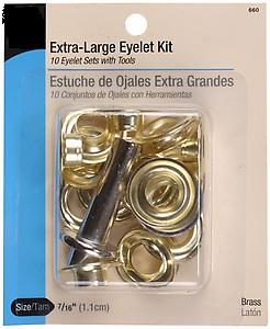 Eyelet kit with tools